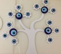 Turkish Nazar Evil Eye Tree of Life Wall Hanging Decoration Charm Greek Mati picclick.com