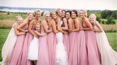 Ten bridesmaids