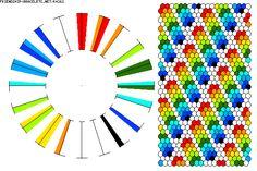 K4262 - friendship-bracelets.net.             40 strings / 10 colours