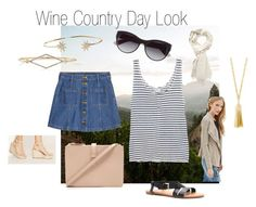 """""""Wine Country Day Look 1"""" by dicey828 on Polyvore featuring Forever 21, H&M, Frame Denim, BaubleBar and country"""