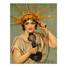 US WW I . This is Liberty Speaking The Statue of Liberty is calling in this WWI war bonds poster from 'Hello! This is Liberty Speaking. Billions of dollars are needed and needed NOW.' Illustrated by Z. Ww1 Propaganda Posters, Political Posters, Political Art, Political Leaders, Vintage Advertisements, Vintage Ads, Vintage Posters, Vintage Travel, Vintage Prints