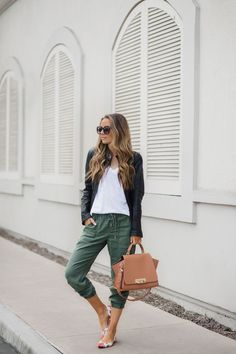 Merrick's Art | Olive Green, Floral Flats, and the Perfect Non-Sheer White Tee