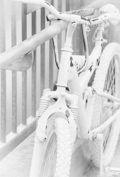 Inspiration comes in all shapes and styles! Love this all white bike to match the background. What is bringing you inspiration at this time? All White, White Art, Pure White, White Stuff, Aesthetic Colors, White Aesthetic, Winter White, Snow White, Blanco White