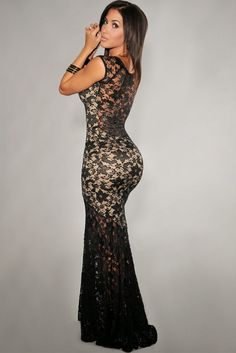 Long Mermaid Dress - I have the PERFECT occasion for this. Hawt!