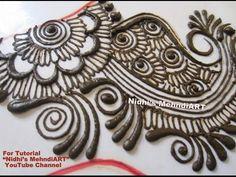 Innovative Intricate Curly Arabic Henna Mehndi Design Tutorial for All F...