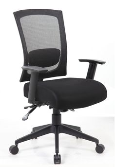 Contract Mesh Back Task Chair with Seat Slider