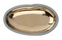 Dauville Charcoal Pebble Dish in Gold - Canvas Home