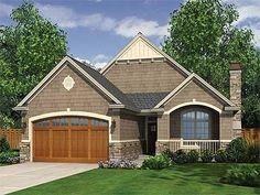 Plan W69013AM: Northwest, Cottage, Narrow Lot House Plans & Home Designs
