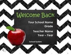 Cute Welcome Back to School Presentation - Meet the teacher - Open House.  17 fun interactive pages with sound.  Easy to personalize and ready to show.