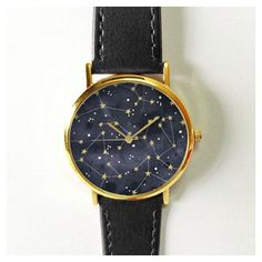 Constellation Watch, Sky Full of Stars, Vintage Style Leather... ($14) via Polyvore featuring mens, men's jewelry and men's watches