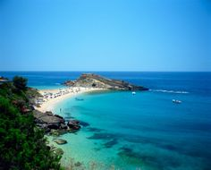 Beach of Lassi on Kefalonia, Greece
