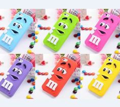 3D M&M Cartoon Character Silicone Soft Case Cover for iPhone 5 5s 5c / iPhone 4 4S/ Galaxy S3 S4 Note 2 Note 3