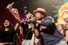 Pharrell onstage at iHeartRadio Jingle Ball 2014, hosted by Y100MIAMI at BB&T Center on December 21, 2014. (Photo: Andrew Swartz for iHeartRadio)