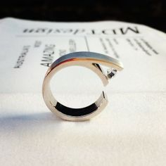 Our new tension set diamond ring #tensionset #handmade #diamonds #dressring #jewelery #australianmade #mdtdesign #melbourne