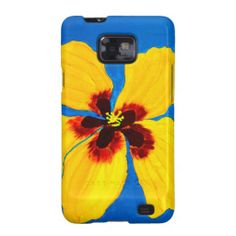 Yellow Hibiscus Flower Painting Galaxy SII Cases