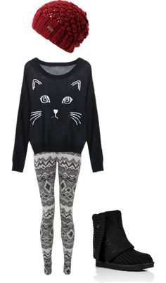 """""""cozy winter outfit"""" by cnormandeau on Polyvore"""