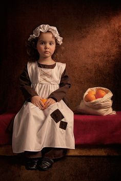 Australia-based photographer Bill Gekas has a real knack for portraiture, particularly the kind that results in an homage to many Old Masters of classic paintings, including artists like Vemeer and Rembrandt. Using his five-year-old daughter as the model, Gekas recreates many mid-18th century settings that are inspired by portraits of adults from famous paintings.