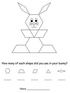 easter pattern block puzzles bunny and easter egg. Black Bedroom Furniture Sets. Home Design Ideas