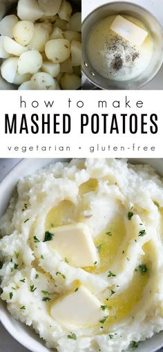 The Best Mashed Potatoes Recipe. Potatoes are boiled until soft and tender then mashed together with warm milk, melted butter, and tangy sour cream. Learn how to make these easy mashed potatoes and enjoy this classic side dish with all your favorite family recipes. Homemade Mashed Potatoes, Making Mashed Potatoes, Mashed Potato Recipes, Potato Dishes, Boiled Mashed Potatoes Recipe, Best Healthy Dinner Recipes, Healthy Side Dishes, Side Dishes Easy, Side Dish Recipes