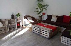 Cassette di legno per arredare tutto il soggiorno