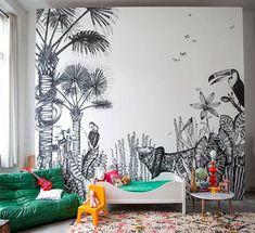 Papiers peints Jungle en Noir & Blanc pour un effet graphique