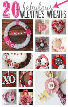 20 Fabulous Valentine's Wreaths  | MyBlessedLife.net