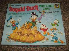 Walt Disney Donald Duck Money Bag Board Game Good Condition Complete