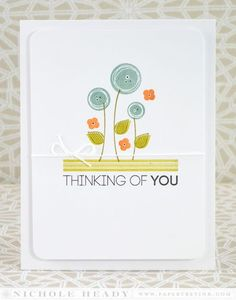 Modern Florals Card by Nichole Heady for Papertrey Ink (July 2014)