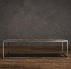 Metal Parquet Coffee Table