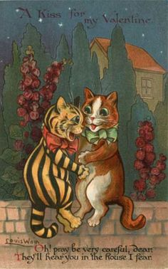 Nister Valentine Signed Louis Wain's Cats Postcard | eBay