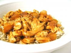 Skinny Orange Shredded Chicken, Baked or Crock-Pot - Skinny Kitchen