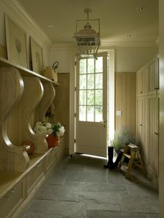 Love the look of this mudroom.