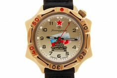 WATCH VOSTOK KOMANDIRSKIE 539295 RUSSIAN PANZERS. At the top of the khaki watch face, at the twelve-hour point, there is a red five-pointed star with a white edging. Below the axis of the hands there is a straight frontal image (full-face) of the Russian main battle tank T-90 on the background of a weaving State Flag. #russian #mechanical #military #watches #vostok #komandirskie #tank #panzers #tricolor #star #army
