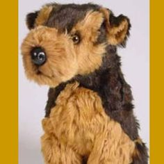 What an adorable Airedale puppy stuffed toy