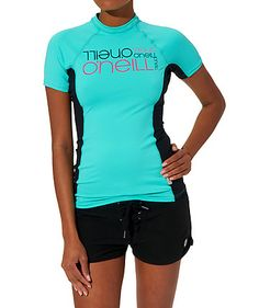 UV-Shirt / Surf-Shirt PW Logo Skins S/S by O'Neill  #surfing #women #sports