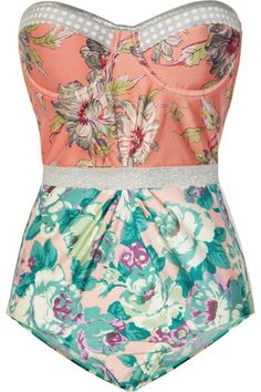 Zimmermann - celestial floral print underwired swimsuit