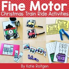 This Christmas Train Ride Fine Motor Activities set is perfect for PreK, Kindergarten & homeschool classrooms. Includes ten fine motor activities to use during small groups, morning tubs, centers, stations & more. Includes paper tearing, cutting activities, line tracing, tweezing, scooping, linking, pathways, hole punching, sticker pictures, pokey pin page & stringing. These hands-on activities are great for Christmas, Holiday, or winter-themed activities for your preschoolers & kinders.