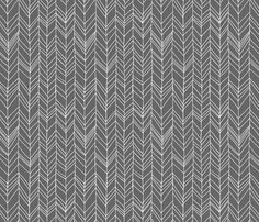 Featherland Gray fabric by leanne on Spoonflower - custom fabric - Maybe I will use this for my kitchen backsplash!