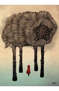 No camines sola pequeña roja