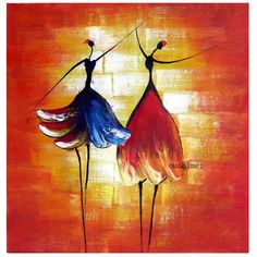 Hand Painted Oil Wall Art Beauty Women Dancer Home Decoration Modern Abstract Painting On Canvas No Framed Red 2408