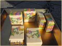 dandelion soap - gorgeous colors and swirls!
