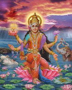 A fine art print of Lakshmi, Goddess of Prosperity
