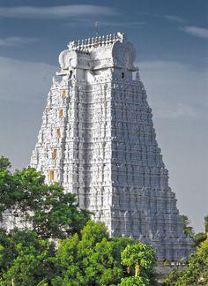 Sri Ranganathaswamy Temple or Tiruvarangam ~ Srirangam, Tiruchirapalli, Tamil Nadu, India Indian Temple Architecture, India Architecture, Ancient Architecture, Beautiful Architecture, Beautiful Buildings, Beautiful Places, Temple India, Hindu Temple, Amazing India