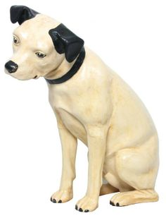 Lg. Paper Mache Advertising Nipper Dog : Lot 192