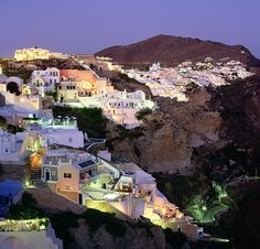 Santorini Night photo, Greece  Grant Ordelheide Photography
