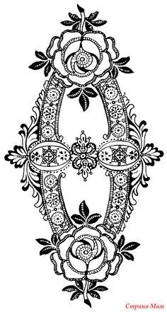 Рисунки для сборки ирландского кружева, апликации, и многого другого))) - Вязание - Страна Мам