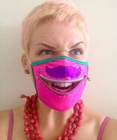 handmade Mustache zipper mask for Burning Man, raves, and fabulous bank robbers by madebyjulianne, $35.00