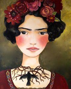 Art grand de Frida kahlo imprimé