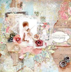 amazing*My Creative Scrapbook* -  Maiko Kosugi Mai. Limited edition Kit June 2014 Limited edition Kaisercraft-Kaleidoscope