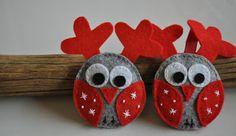 Felt Christmas Owls